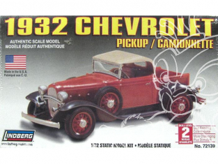 LINDBERG maquette voiture 72139 Chevrolet pickup 1932 1/32