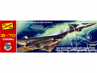 LINDBERG maquette avion HL413 Bombardier B-70 1/172