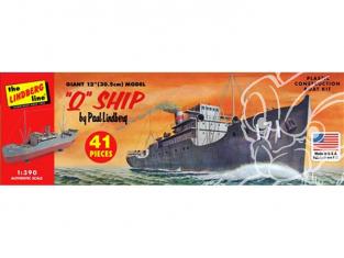 Lindberg maquette bateau HL400 Q-Ship Sea Raider 1/390