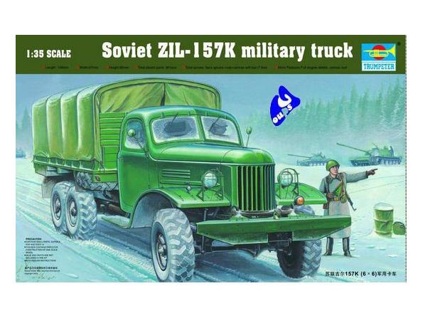 Trumpeter maquette militaire 01003 CAMION SOVIETIQUE ZIL-157K 1/