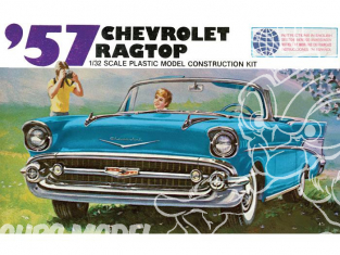 LINDBERG maquette voiture HL105 1957 Chevy Ragtop 1/32