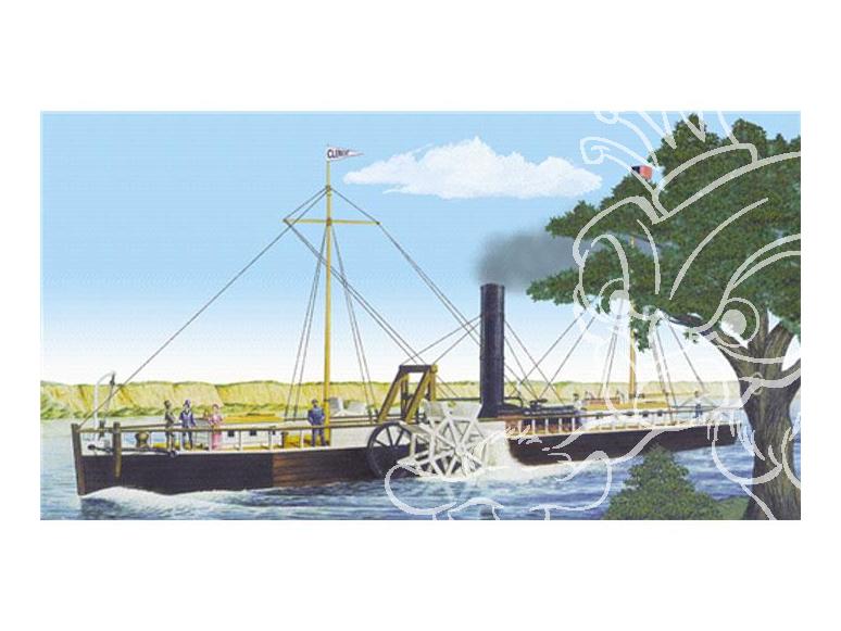 Lindberg maquette bateau HL200 Bateau roue a aubes Fulton's Clermont 1/96