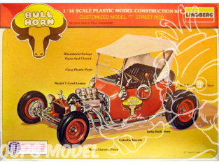 LINDBERG maquette voiture 72320 Ford T Hot Road Bull Horn 1/16