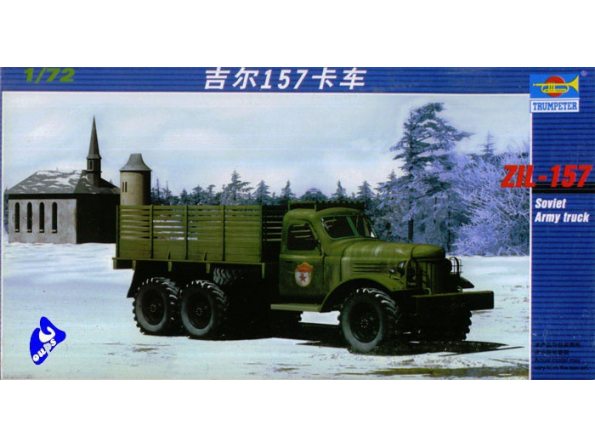Trumpeter maquette militaire 01101 CAMION CARGO ZIL-157 1/72
