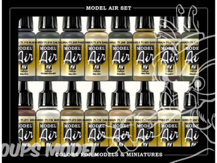 Vallejo Set Model Air 71208 Couleurs Allemandes Europe & Afrique WWII 16 x 17ml