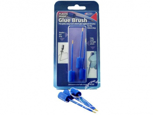 DELUXE MATERIALS colle AC25 Plastic Magic Glue pack pinceaux