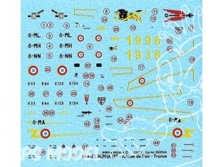 DECALQUES BERNA DECALS BD144-22 Dassault Alpha Jet 1/144