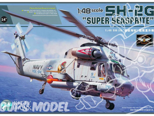 """Kitty Hawk maquette hélicoptère kh80126 HELICOPTERE US NAVY KAMAN SH-2G """"SUPER SEASPRITE"""" 1990 1/48"""