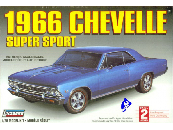 Lindberg maquette voiture 72181 Chevelle SS 1/25