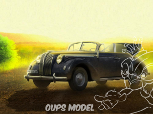 Icm maquette militaire 35471 Opel Admiral Cabriolet WWII avec figurines 1/35