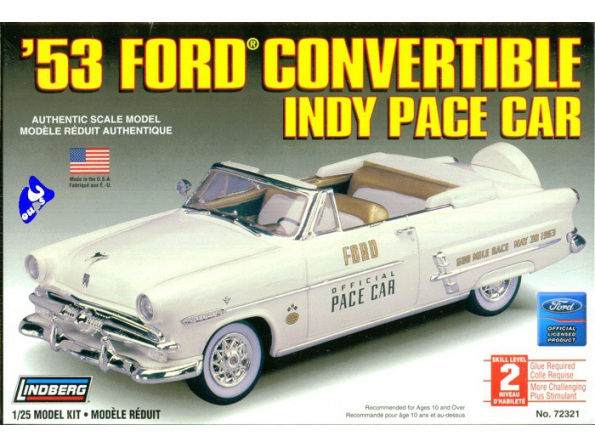Lindberg maquette voiture 72321 Ford Convertible Pace car 1/25