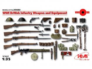 Icm maquette militaire 35683 Armement et equipement Infanterie Britannique WWI 1/35