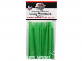 Alpha abrasives 355 25 Micro pinceaux Vert regular