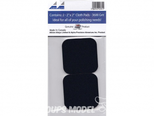 Alpha abrasives 2005 2 micro finishing cloth pads 8000 grip 48x48mm