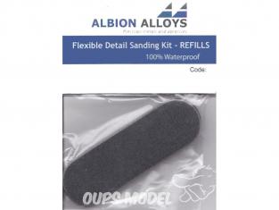 Alpha abrasives 3503 Kit de ponçage 6 Recharges pads Coussins abrasifs 400 Grit