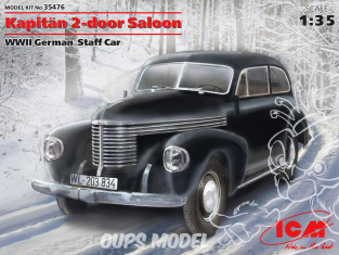 Icm maquette militaire 35476 Opel Kapitan Saloon 2 portes staff car WWII 1/35