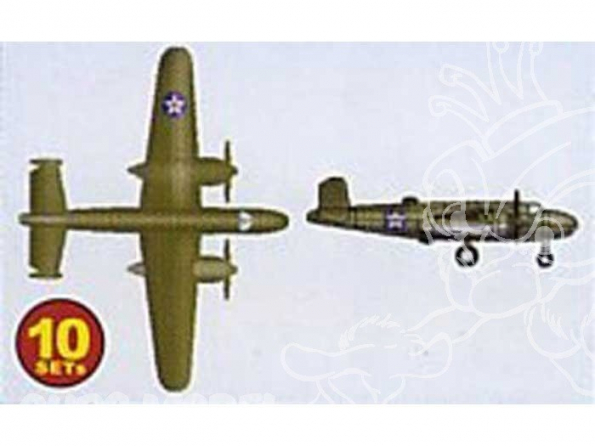 Trumpeter maquette avion 06201 SET DE 10 AVIONS B-25B MITCHELL 1/350