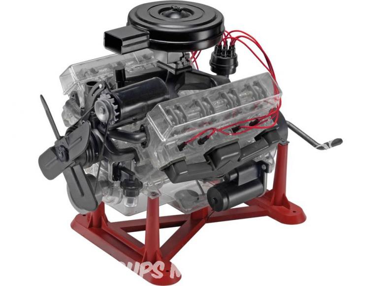 REVELL US Maquette 8883 moteur V8 Transparent 1/4