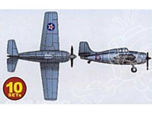 Trumpeter maquette avion 06202 SET DE 10 AVIONS F-4F4 WILDCAT 1/350