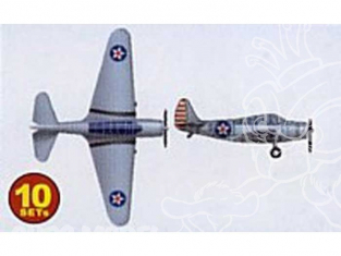 Trumpeter maquette avion 06203 SET DE 10 AVIONS TBD1 DEVASTATOR 1/350