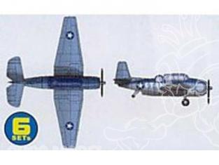 Trumpeter maquette avion 06212 SET DE 6 AVIONS TBF/TBM AVENGER 1/350
