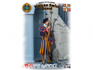Icm maquette figurine 16002 Garde Suisse Pontificale du Vatican 1/16