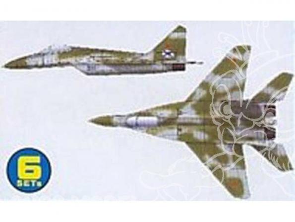 Trumpeter maquette avion 06216 SET DE 6 AVIONS MIG-29K FULCRUM D 1/350
