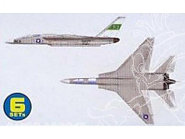 Trumpeter maquette avion 06218 SET DE 6 AVIONS NORTH AMERICAN RA-5C VIGILANTE 1/350