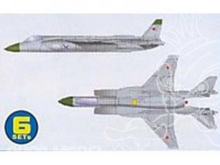 Trumpeter maquette avion 06217 SET DE 6 AVIONS YAK-141 FREESTYLE 1/350