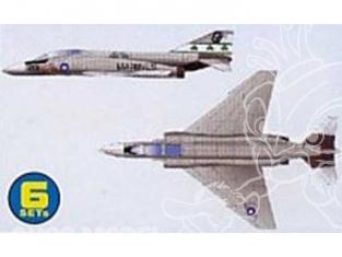 Trumpeter maquette avion 06219 SET DE 6 AVIONS MC DONNELL DOUGLAS F-4J PHANTOM II 1/350