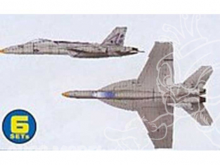 Trumpeter maquette avion 06221 SET DE 6 AVIONS F/A-18E SUPER HORNET 1/350