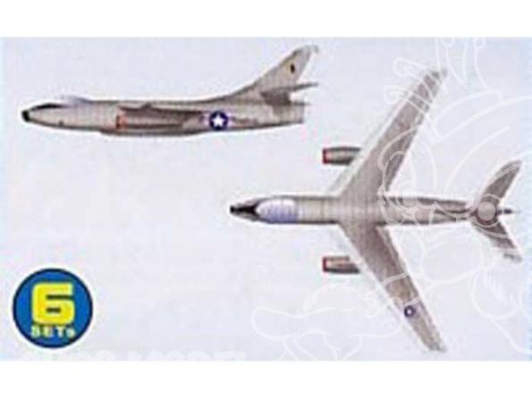 Trumpeter maquette avion 06223 SET DE 6 AVIONS A-3D SKY WARRIOR 1/350