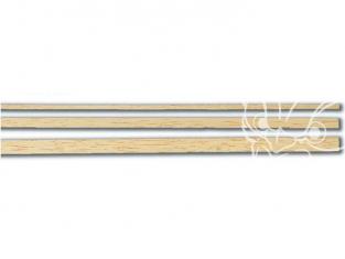 Constructo 80106 10 Lattes de bois essence tilleul couleur ivoire 2 x 5 x 1000