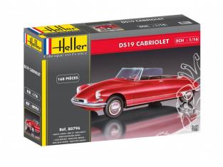 HELLER maquette voiture 80796 Citroen DS19 Cabriolet 1/16