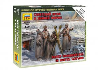 Zvezda maquette militaire 6231 Quartier général soviétique en uniforme hivernal WWII 1/72