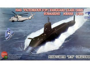 BRONCO maquette sous marin nb5015 SOUS-MARIN HMS-29 1/350