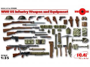 Icm maquette militaire 35688 Armement et equipement Infanterie US WWI 1/35
