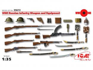 Icm maquette militaire 35672 Armement et equipement Infanterie Russe WWI 1/35