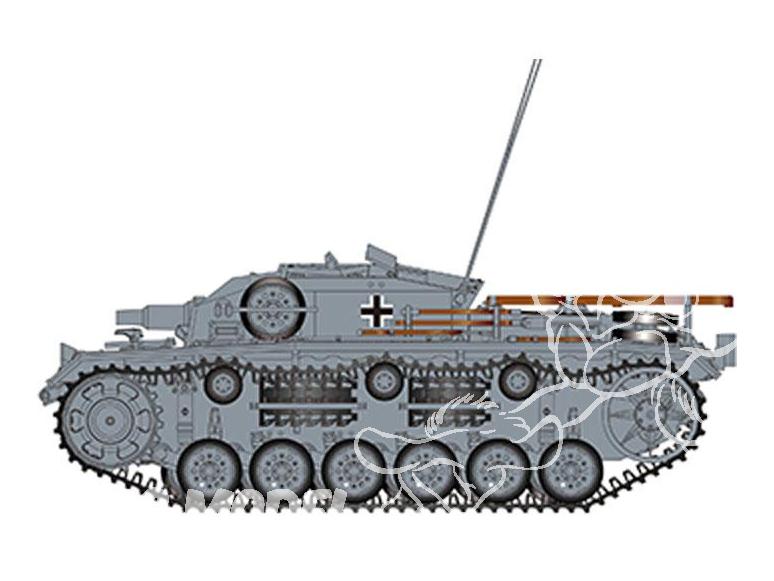 Bronco maquette militaire CB 35119 STURMGESCHUTZ III E SdKfz 142/1 (Front de l'EST 1942) 1/35