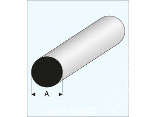 maquett 400-61/3 1 Profilé styrene blanc profilé rond 6mm 330mm de long
