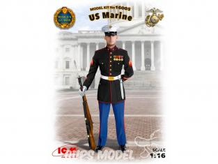 Icm maquette figurine 16005 Marin Americain - Us Marine 1/16