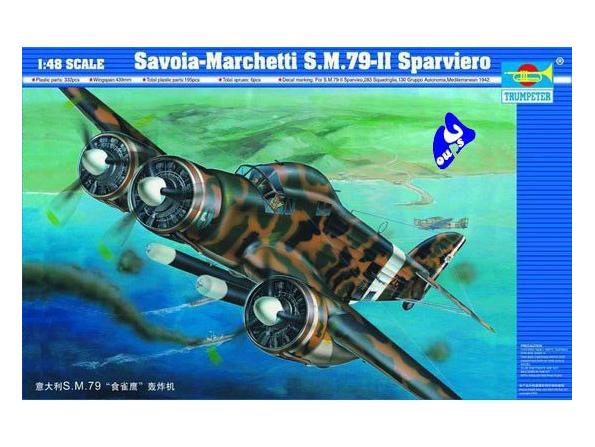 Trumpeter maquette avion 02817 SAVOIA-MARCHETTI S.M.79-II 1/48