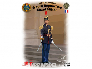 Icm maquette figurine 16004 Officier de la Garde Republicaine 1/16