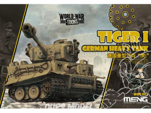 Meng maquette militaire WWT-001 CHAR LOURD ALLEMAND TIGRE I SERIE WORLD WAR TOON