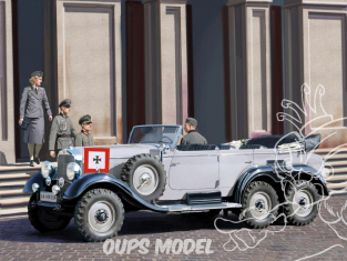 Icm maquette militaire 35531 Mercedes Benz Type G4 (Production 1939) avec passagers WWII 1/35