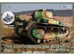 """IBG maquette militaire 72041 TYPE 89 """"OTSU"""" (diesel) CHAR MOYEN JAPONAIS 1941 1/35"""