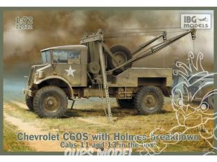 IBG maquette militaire 72032 CHEVROLET C60S AVEC GRUE HOLMES CAB N°.13/11 1/72