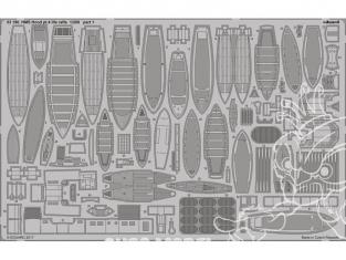 Eduard photodecoupe 53190 HMS Hood Partie 4 Canots de sauvetage Trumpeter 1/200