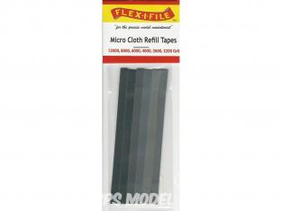 FLEX-I-FILE 3211 6 micro rubans abrasifs en lot 1200,8000,4000,3600,3200 grit pour Cadres