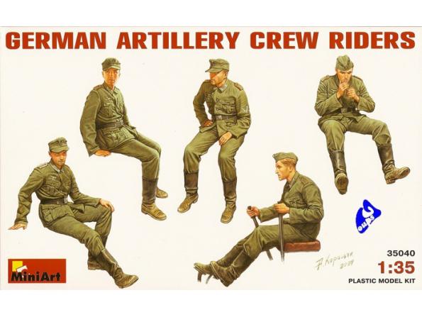Mini art maquette militaire 35040 ARTILLEURS ALLEMANDS 2e GUERRE